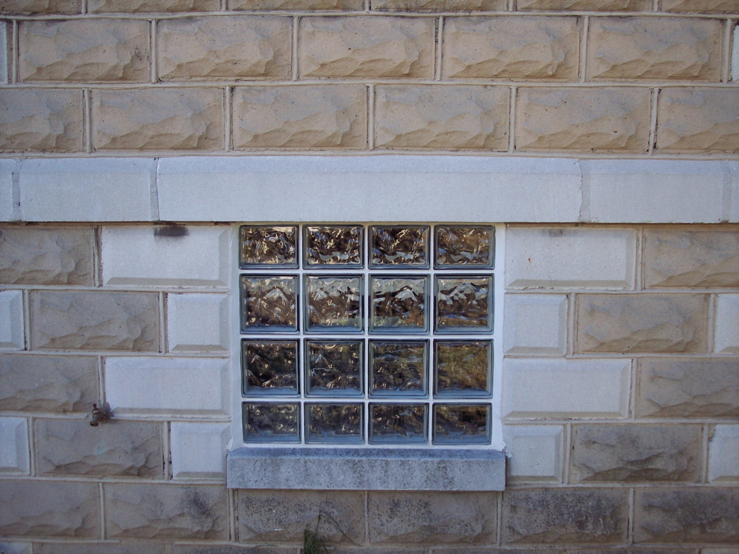 completed glass block window