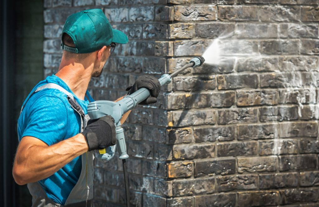 House Brick Wall Washing