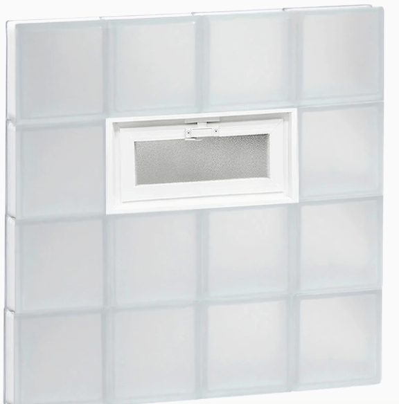 redi2set frosted glass block window