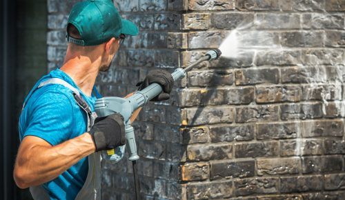 House Brick Wall Washing
